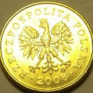 Poland 2008-MW Grosz Gem Unc~Drooping Oak Leave~Eagle~Free Shipping