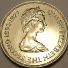 Guernsey 1977 25 Pence Gem Unc~The Queens Silver Jubilee~Free Shipping
