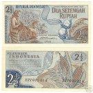 INDONESIA 1961 2 1/2 RUPIAH<CRISP FARMING NOTE>FREE SHI