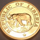 Liberia Cent, 1968 Proof Rare~Only 14,000 Minted~Elephant~Free Shipping