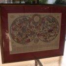 Colored World Zodiac Map~Planisfero Del Globo Celeste~Italian Tex~Awesome~