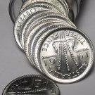 Gem Unc Roll (50) Australia 1961 BU Silver 3 Pence Coins~Wheat Stalks~Free Ship