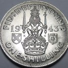Great Britain 1943 Shilling Silver Unc~Free Shipping