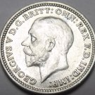 Great Britain 1933 3 Pence Silver Unc~Free Shipping
