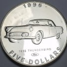 Marshall Islands 1996 $5.00 Gem Unc~Henry Fords 1955 Thunderbird~Classic Cars~FS
