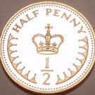 Great Britain 1983 Half Penny Proof~Only 108,000 Minted~Excellent~Free Shipping