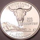 Cameo Proof 2007-S Montana State Quarter~Free Shipping