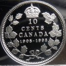 Silver Proof Canada 1998 10 Cents~Rare~25k Minted~90th Anniversary Of RCM~Fr/Sh