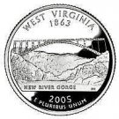 2005-D West Virginia State Quarter~Free Shipping Included