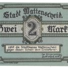 Germany Wattenscheid 1921 Zwei (2) Mark Notgeld Uncirculated~Free Shipping