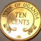 Uganda 10 Cents, 1966~Rare Proof~8,250 Minted~Free Shipping