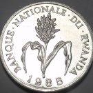 Rwanda Franc, 1985 Gem Unc~Millet Flower~Free Shipping