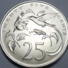 Jamaica 1970 25 Cents Gem Unc~RARE~Hummingbirds~Only 5,000 Minted~Free Shipping