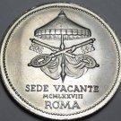 Vatican Silver Medal Pope JOANNE PAVLVS I~John Paul I~SEDE VACANTE ROMA~Fr/Ship