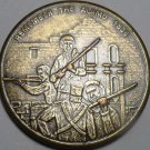 Remember The Alamo 1836 Siege And Battle Bronze Medallion 38.5mm~Free Shipping