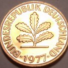 Germany 1977-J Pfennig Proof~Only 43,000 Minted~Minted In Hamburg~Free Ship