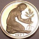 Germany - Federal Republic 50 Pfennig, 1977-J Proof~43k Minted~Women Planting~FS