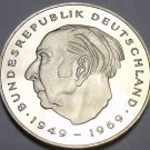Germany 1977-F 2 Marks Proof~Theodor Heuss~51,000 Minted In Stuttgart~Free Ship