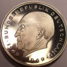 Germany 1977-J 2 Marks Proof~Konrad Adenauer~43,000 Minted In Hamburg~Free Ship