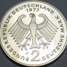 Germany 1977-J 2 Marks Proof~Theodor Heuss~43,000 Minted In Hamburg~Free Ship