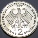 Germany 1977-F 2 Marks Proof~Konrad Adenauer~51,000 Minted In Stuttgart~Free Shi
