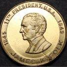 James K. Polk 11th President Bronze Medallion~First Dark Horse~Young Hickory~F/S