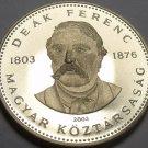 Rare Proof Hungary 2003-BP 20 Forint~Deak Ferenc~Humanitarian~April Rules~Fr/Shi