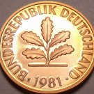 Germany 1981-D Pfennig Proof~Only 90,000 Minted~Minted In Munich~Free Shipping