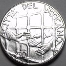 Vatican 50 Lire 1994 Gem Unc~Helping Hands For Prisoners In Jail~Free Shipping