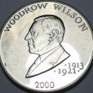 Liberia 5 Dollars 2000 Gem Unc~Woodrow Wilson President 1913-1921~Free Shipping