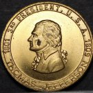 Thomas Jefferson 3rd President Bronze Medallion~Sage Of Monticello~Long Tom~Fr/S