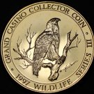 Grand Casino Mille Lacs Minnesota Wildlife Coin Gem Unc 39mm~Eagle~Free Shipping