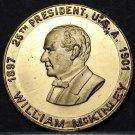 William McKinley 25th President Bronze Medallion~Little Mack~Assassinated~Fr/Shi