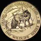 Grand Casino Mille Lacs Minnesota Wildlife Coin Gem Unc 39mm~Wolf~Free Shipping