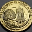 STS-7 1st American Woman In Space~Sally Ride~Nasa Medallion~Bronze~Free Shipping