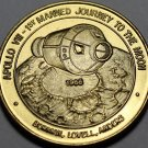 Apollo VII 1st Manned Journey To The Moon Space Nasa Medallion~Bronze~Free Ship
