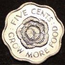 Seychelles 5 Cents FAO, 1972 Gem Unc~Cabbage Head~Fantastic~1st Year Ever~Fr/Shi