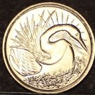 Singapore 5 Cents, 1974 Gem Unc~Great White Egret~Free Shipping