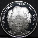 Jamaica 10 Dollars, 1985, Year of Youth~Rare Silver Proof~1,000 Minted~Free Ship