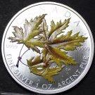 Canada 5 Dollars, 2006, RARE SILVER UNC~Silver Maple~14,157 Minted~Colorized~F/S