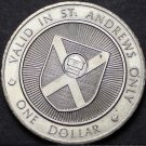 St. Andrews By The Sea New Brunswick Canada Trade Token Dollar 1979~UNC~Fr/Ship