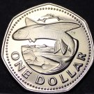 Barbados 1976 Dollar Rare Proof~12,000 Minted~Flying Fish~10th Anniversary~Fr/Sh