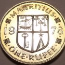 Mauritius Rupee, 1978 Gem Proof~RARE~9,268 Minted~Free Shipping