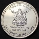 Grand Falls/Windsor Newfoundland Canada Amalgamation Trade Dollar 1991~Fr/Ship