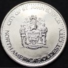 St.Johns Newfoundland Canada Trade Token Dollar 1982~UNC~Oldest In N. America~FS