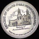 Grand Falls Newfoundland Canada 125th Anniversary Trade Token Dollar 1982~UNC~FS