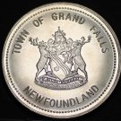 Grand Falls Newfoundland Canada Trade Token Dollar 1988~UNC~Forestry Capital~F/S