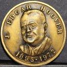 J. Edgar Hoover Friends Of The FBI 39mm Bronze Medallion Gem Unc~Free Shipping