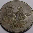 Wall Drug, Wall South Dakota Medallion~28.2mm~Ted Husteads Cowboys~Free Ship