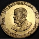 Ulysses S. Grant 18th President Bronze Medallion~The Silent Man of Appomattox~FS